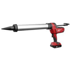 An image of a Milwaukee M18™ Cordless 20 Oz. Aluminum Barrel Caulk And Adhesive Gun Kit